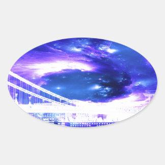 Amethyst Sapphire Budapest Dreams Oval Sticker