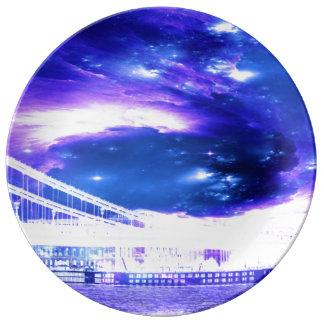 Amethyst Sapphire Budapest Dreams Porcelain Plates