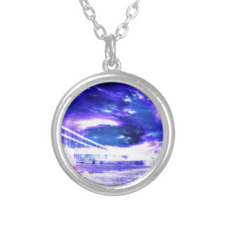 Amethyst Sapphire Budapest Dreams Silver Plated Necklace
