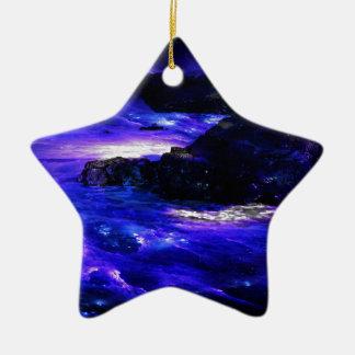 Amethyst Sapphire Indian Dreams Ceramic Star Ornament