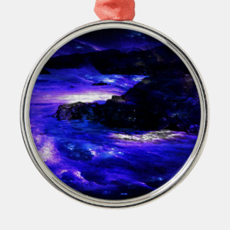 Amethyst Sapphire Indian Dreams Silver-Colored Round Ornament