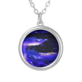 Amethyst Sapphire Indian Dreams Silver Plated Necklace