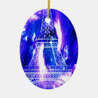 Amethyst Sapphire Paris Dreams Ceramic Ornament