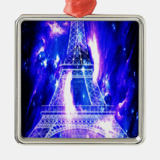 Amethyst Sapphire Paris Dreams Metal Ornament