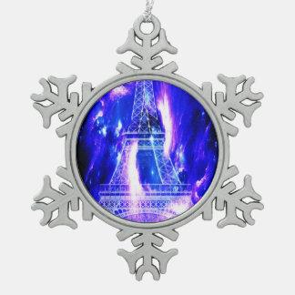Amethyst Sapphire Paris Dreams Pewter Snowflake Ornament