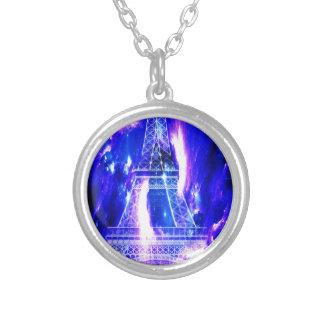 Amethyst Sapphire Paris Dreams Silver Plated Necklace