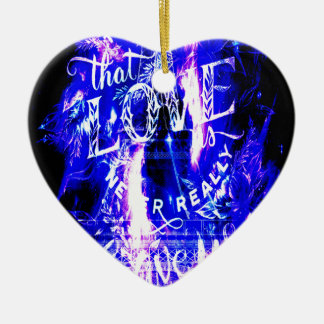 Amethyst Sapphire Paris Dreams the Ones that Love Ceramic Ornament