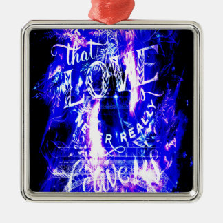 Amethyst Sapphire Paris Dreams the Ones that Love Metal Ornament