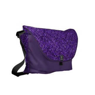 Amethyst Sequin Effect Rickshaw Messenger Bag