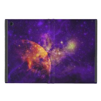Amethyst Sky,Golden Planet n Nebula iPad Mini Case
