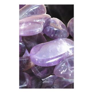 AMETHYST spiritual purple gemstone Stationery