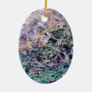 amethyst stone texture ceramic oval ornament