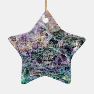 amethyst stone texture ceramic star ornament