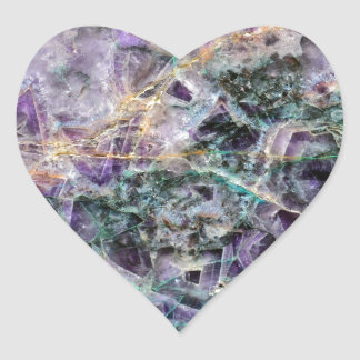 amethyst stone texture heart sticker