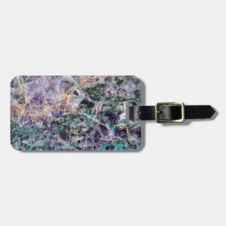 amethyst stone texture luggage tag