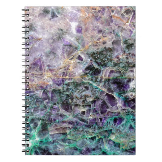 amethyst stone texture notebook