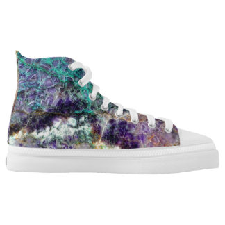 amethyst stone texture pattern rock gem high tops