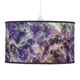 amethyst stone texture pattern rock gem mineral am pendant lamp