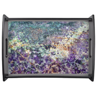 amethyst stone texture pattern rock gem mineral am serving tray
