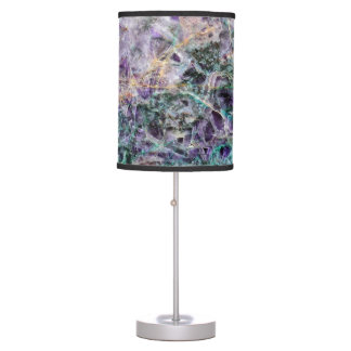 amethyst stone texture pattern rock gem table lamp
