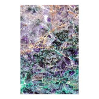 amethyst stone texture stationery