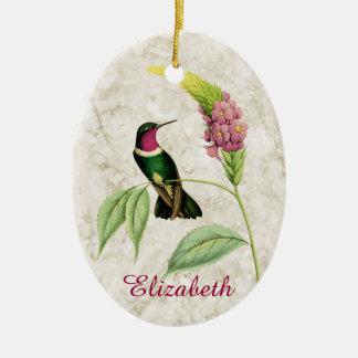 Amethyst Throated Hummingbird Ornament