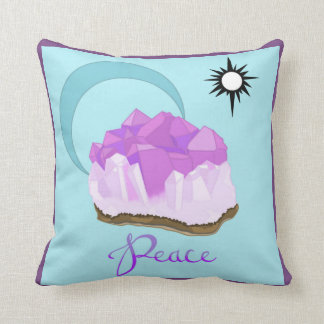 "Amethyst Throw Pillow 16""x16"" Colored"