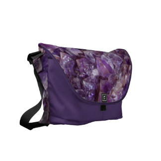 Amethyst Tiled Print Design Office Home School Messenger Bag