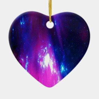 Amethyst Winter Sky Ceramic Heart Ornament