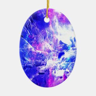 Amethyst Yule Night Dreams Ceramic Oval Ornament