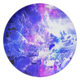 Amethyst Yule Night Dreams Party Plate