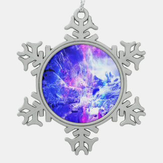 Amethyst Yule Night Dreams Pewter Snowflake Ornament