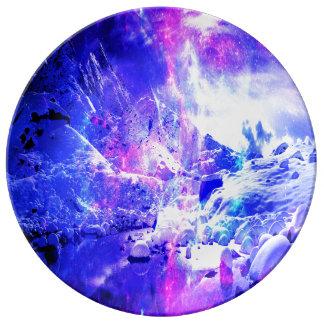 Amethyst Yule Night Dreams Porcelain Plate