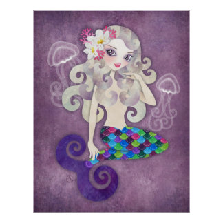 Amethyste Mermaid Poster