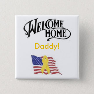 amflag, welcome-1, Daddy! 2 Inch Square Button