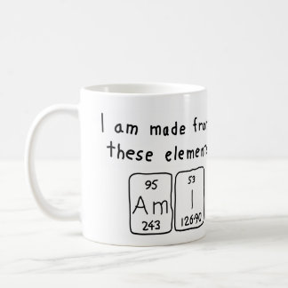 Ami periodic table name mug
