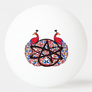 Amiable Atheist Peacock Ping Pong Ball
