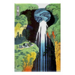 Amida Waterfall, Hokusai Japanese Fine Art Poster