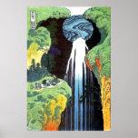 Amida Waterfall on the Kisokaido Road Poster