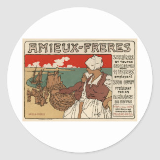 Amieux Freres Classic Round Sticker