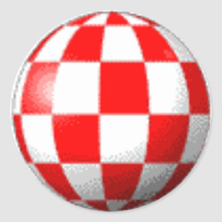 AMIGA BOING BALL ROUND STICKER