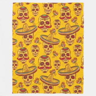 Amigo Skulls Fleece Blanket