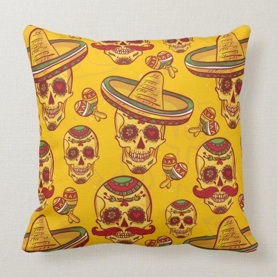 Amigo Skulls Throw Pillow