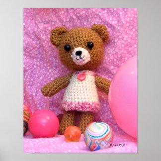 Amigurumi Teddy Bear Poster