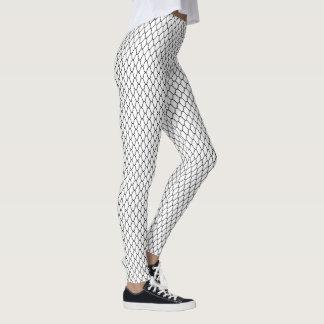 Amime Japanese Pattern Black and White Leggings