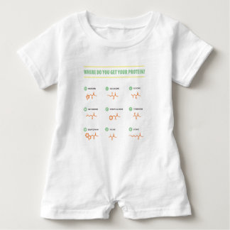 Amino Acids - Where do you get your protein? Baby Romper