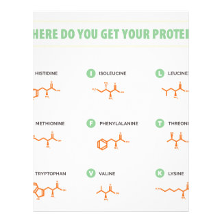 Amino Acids - Where do you get your protein? Letterhead