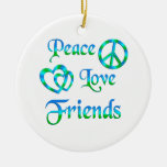 Amis d'amour de paix ornements