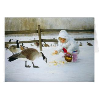 Amis d'hiver carte de vœux