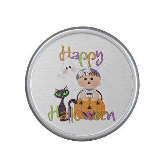 Amis heureux de partie de Halloween Haut-parleur